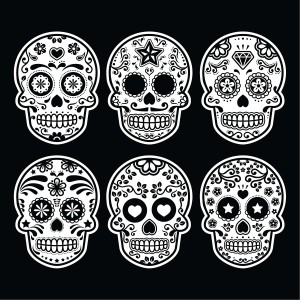 mexican-sugar-skull-icons-set-on-black-bg FOR BLOG