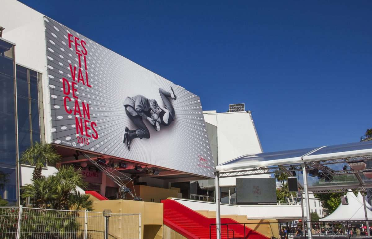 CANNES, FRANCE - MAY 17, 2013: The Palais des Festivals during the ceremony 66th Cannes Film Festival on May 17, 2013 in Cannes, France. In 2013, the event takes place from May 15 to May 26.