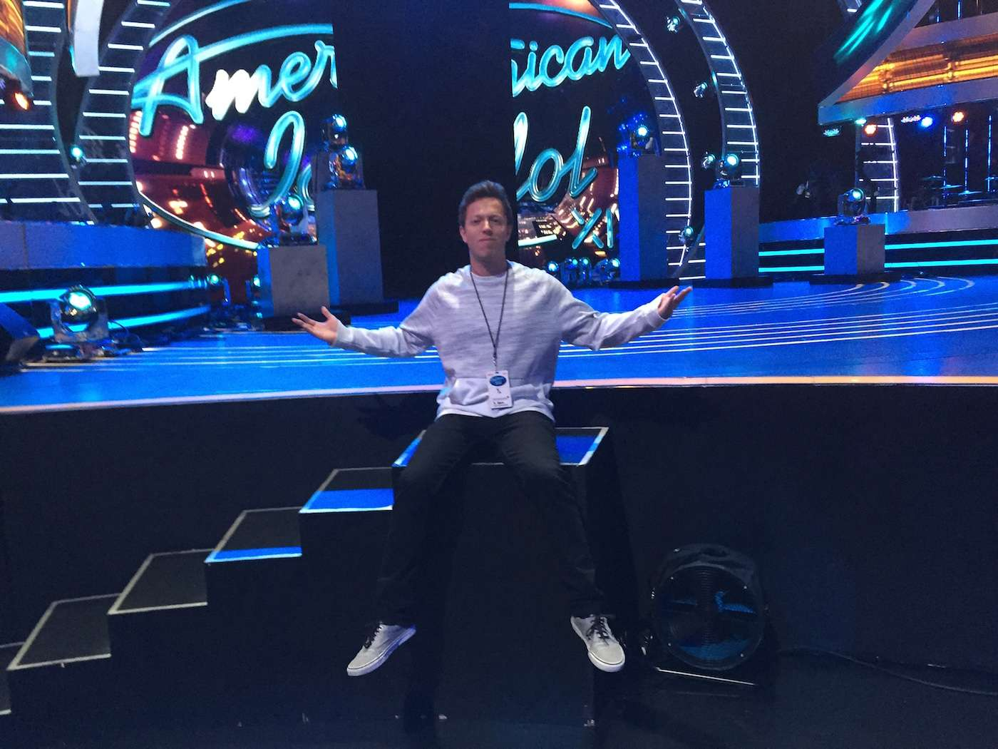 on the stage of Idol