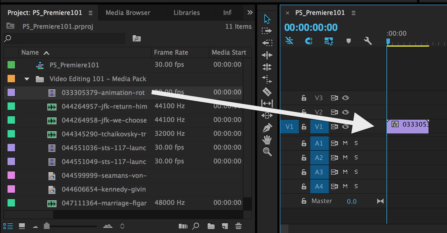 Video editing 101 getting started with adobe premiere pro pond5 as this is the first clip you drop on the timeline premiere pro will ask you if you would like to match the sequence settings to this clip baditri Images