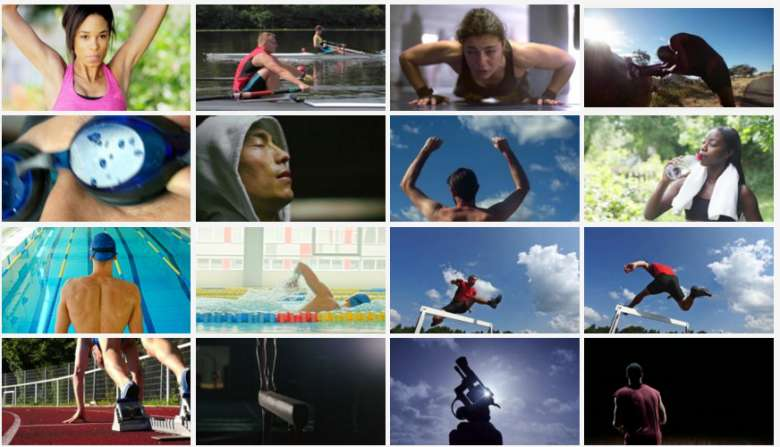 An assortment of Olympic sports footage for creative projects.