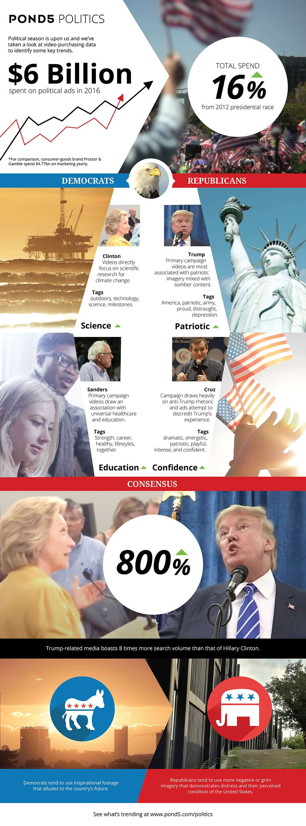 Political Video Infographic