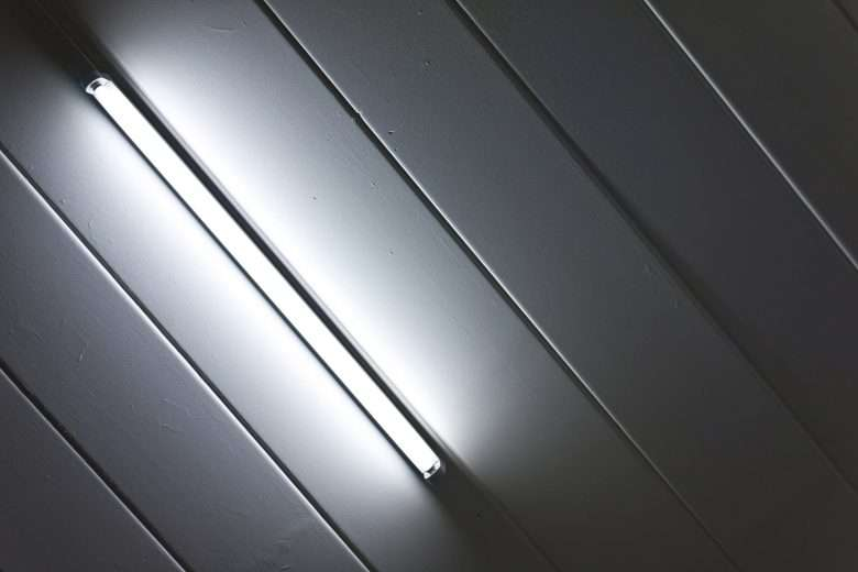 gray light Fluorescent on Ceiling