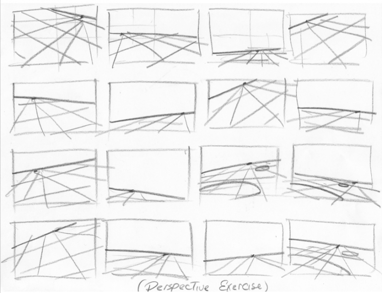 Perspective Exercise by William H. Frake III