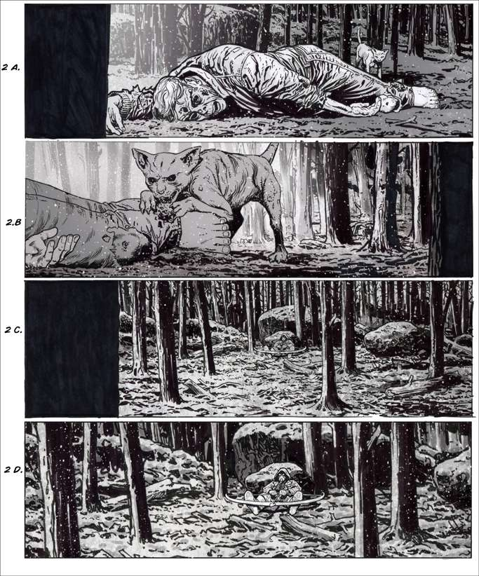 The Book of Eli storyboard by Chris Weston