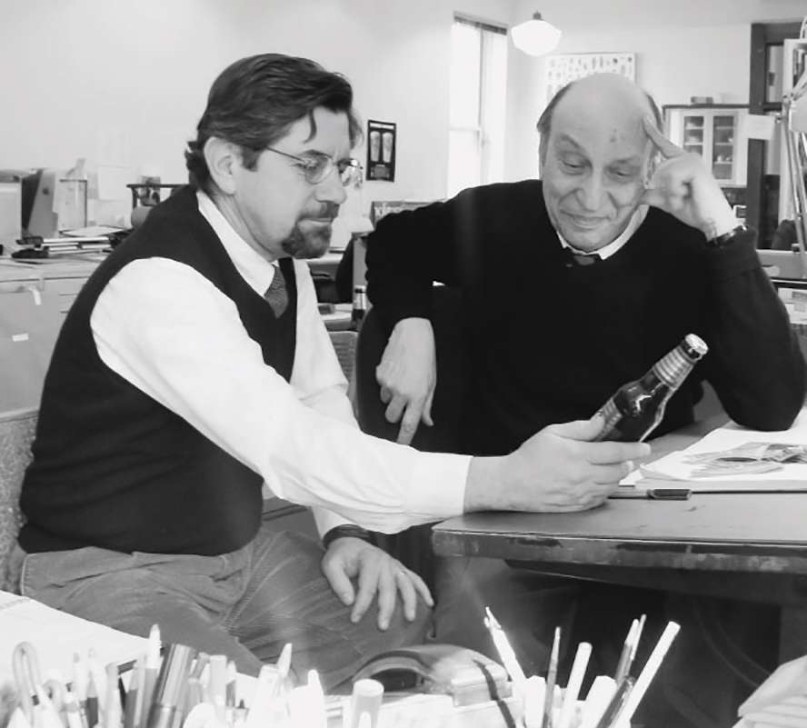 Steve Hindy and Milton Glaser circa 1986