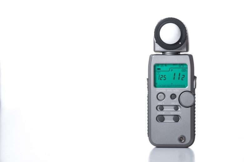 Hi end light meter isolated on white background.