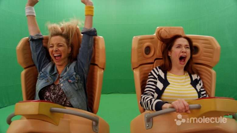 Unbreakable Kimmy Schmidt roller coaster before VFX