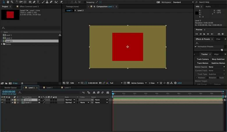 After Effects Pre-Composing 1