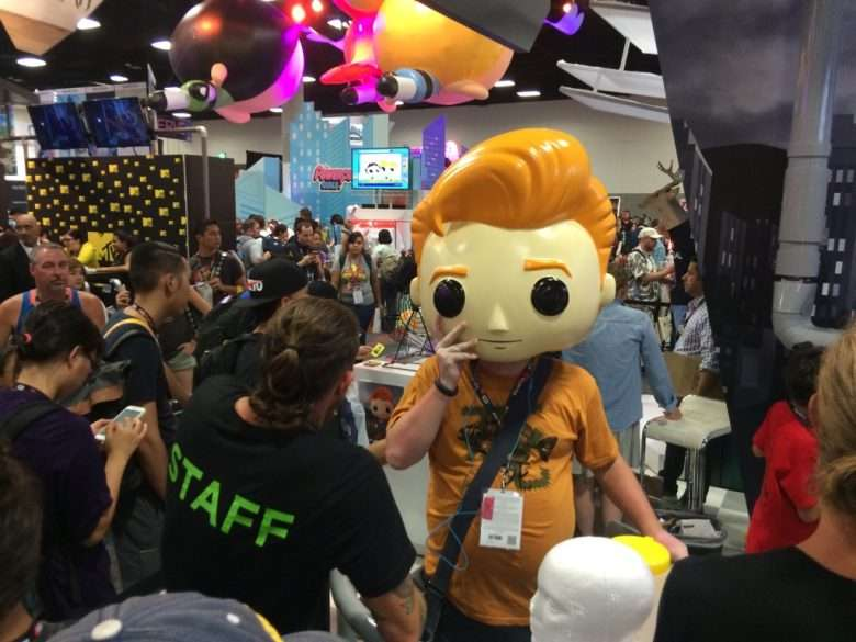 Conan O'Brien Headset at Comic Con