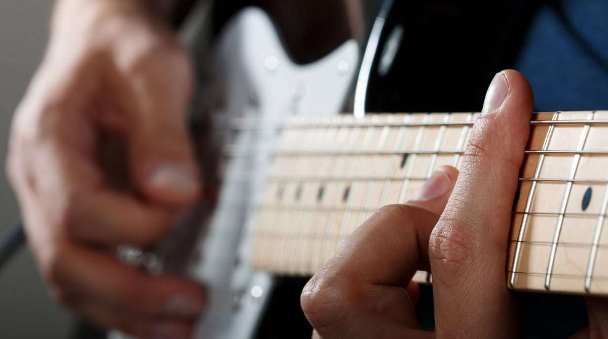 Playing Guitar Closeup
