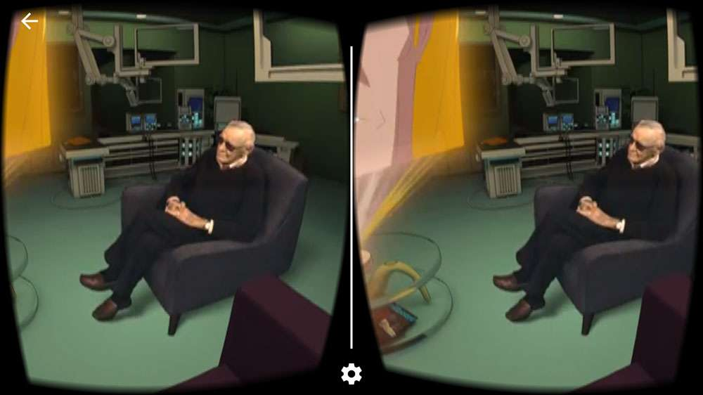 Stan Lee in Cosmic Crusaders VR from EEVO