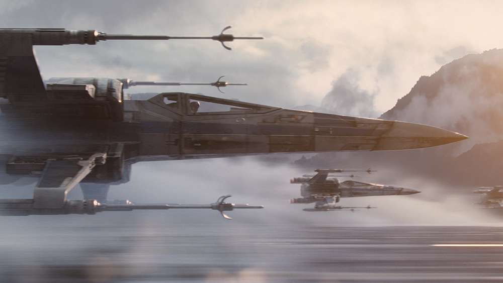 "X-Wings flying in ""The Force Awakens"""