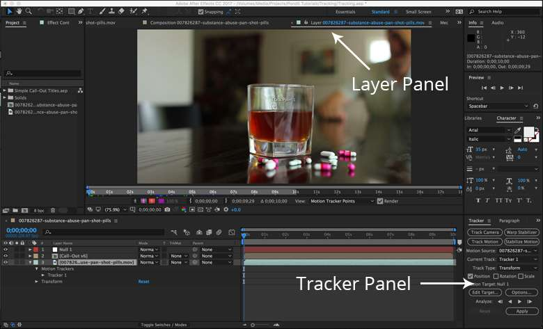 Motion Tracking in After Effects: How to Use the Point