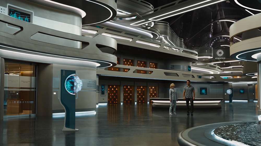 "The mall concourse in ""Passengers"""