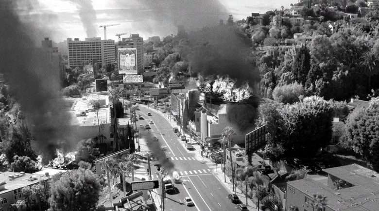 Billboards and Fire in Los Angeles