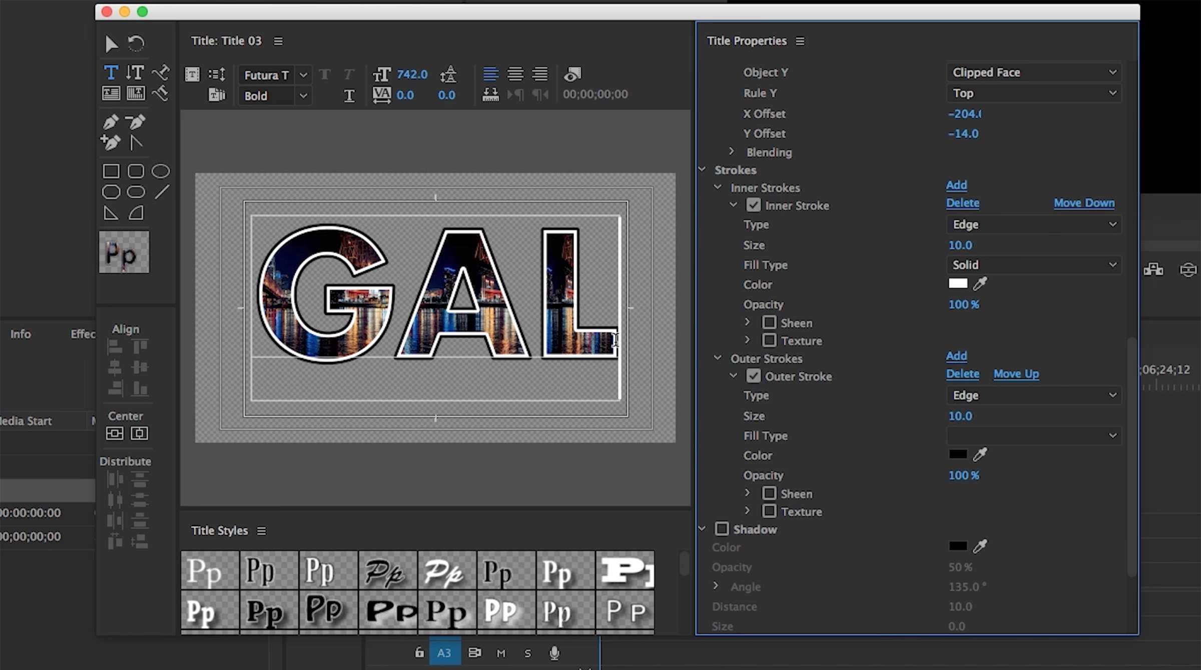 how to fill text with an image in premiere s legacy titler tool pond5