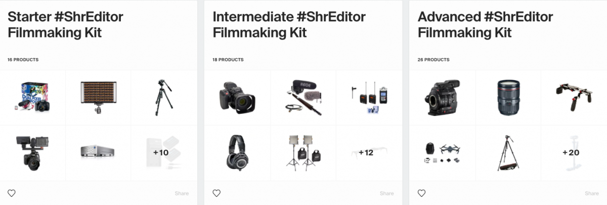 shreditor filmmaking kits