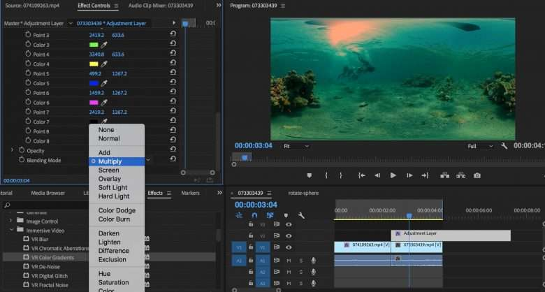 New Immersive Video Effects for 360/VR Video in Premiere Pro 2018