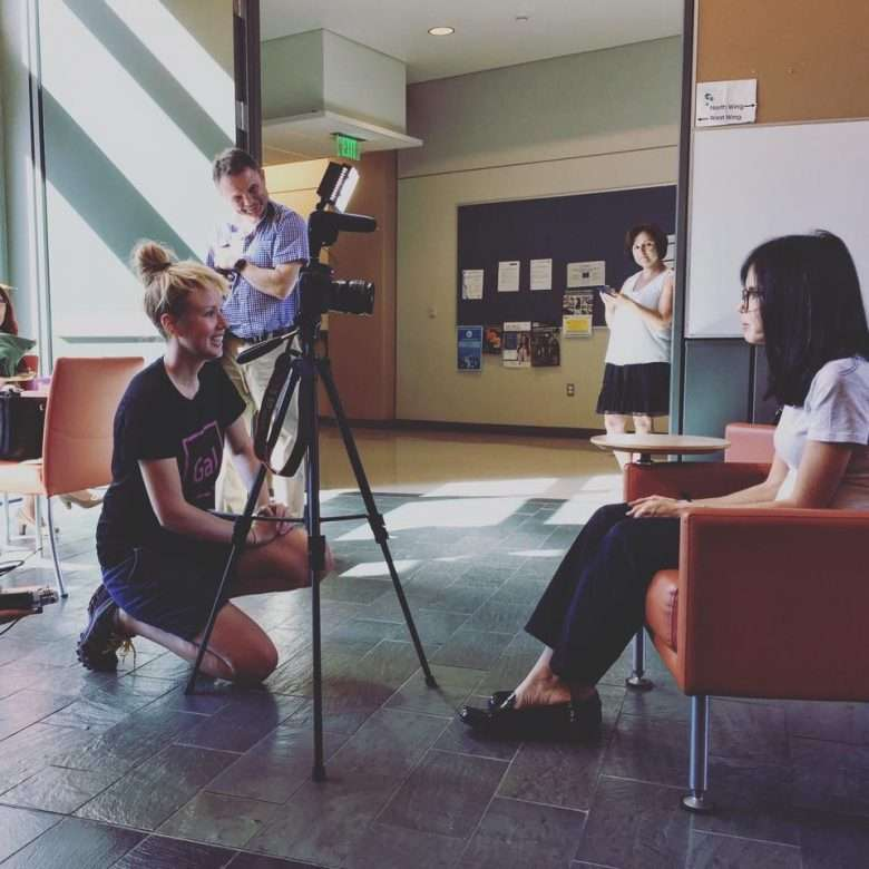 Interviewing exchange participants at UCLA