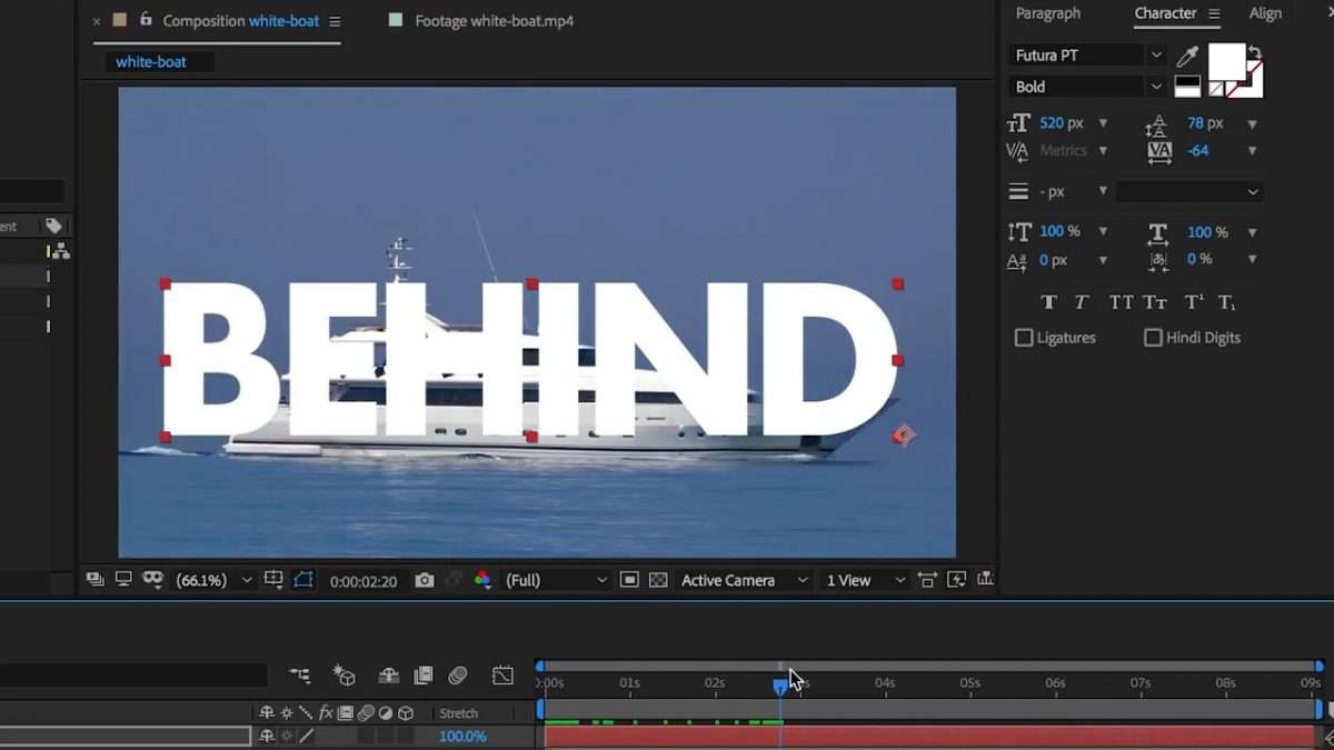 How to Place Text Behind a Moving Object in After Effects CC