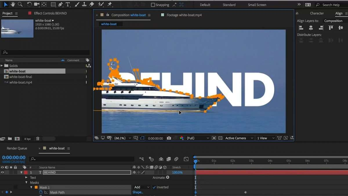 How to Place Text Behind a Moving Object in After Effects CC | Pond5