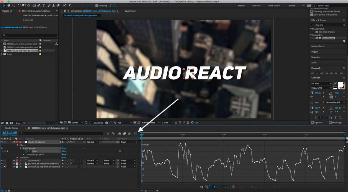 How to Make Text React to Music With After Effects
