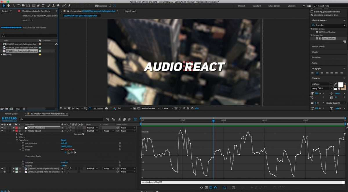 How to Make Text React to Music With After Effects Expressions | Pond5