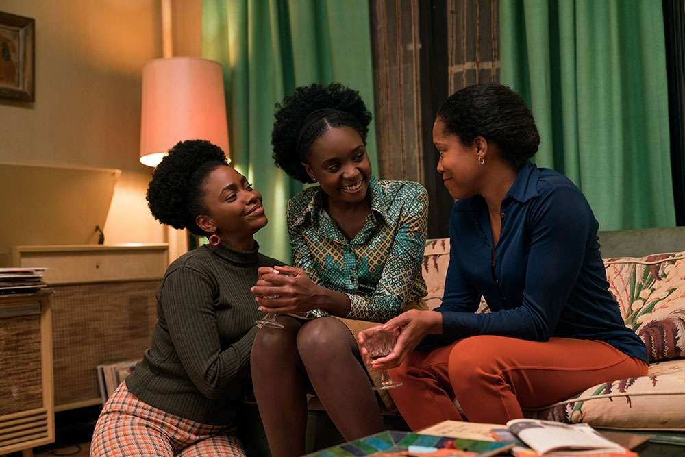 Teyonah Parris as Ernestine, KiKi Layne as Tish, and Regina King as Sharon star in Barry Jenkins' IF BEALE STREET COULD TALK