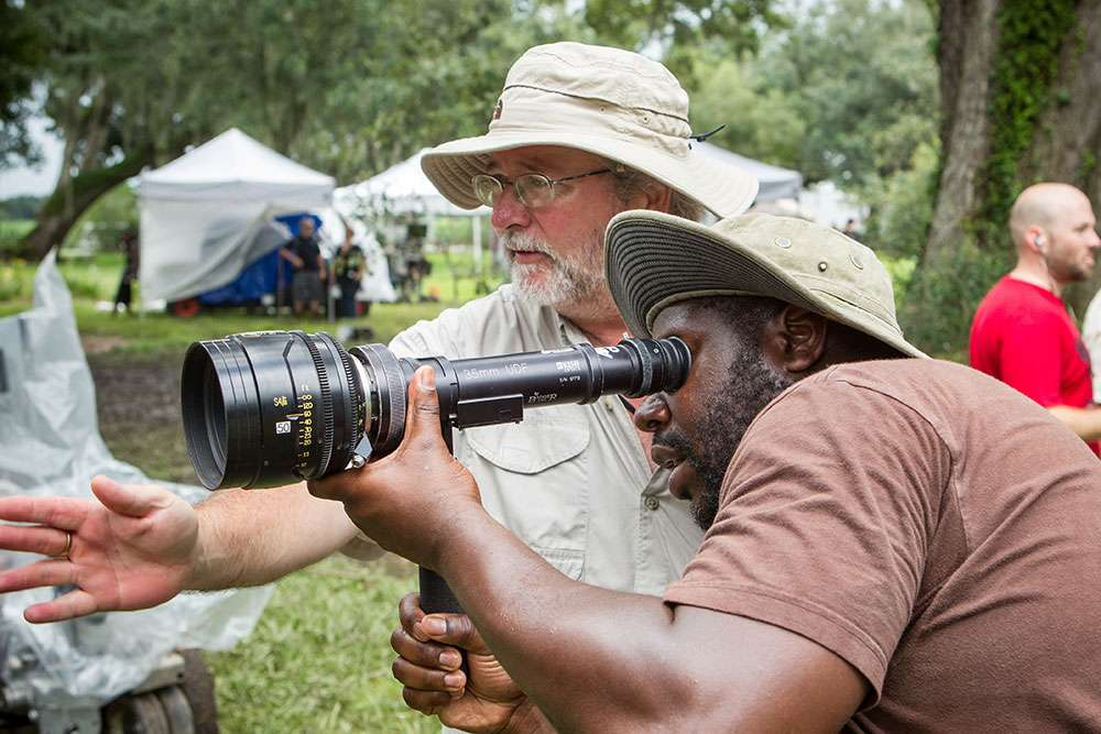 Sean Bobbitt and Steve McQueen on the set of 12 Years a Slave