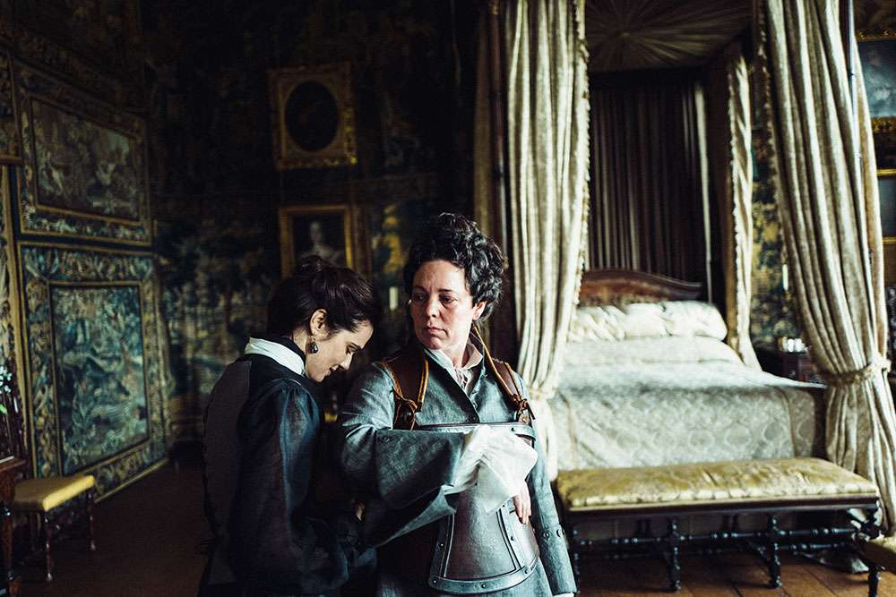Rachel Weisz and Olivia Colman in 'The Favourite'