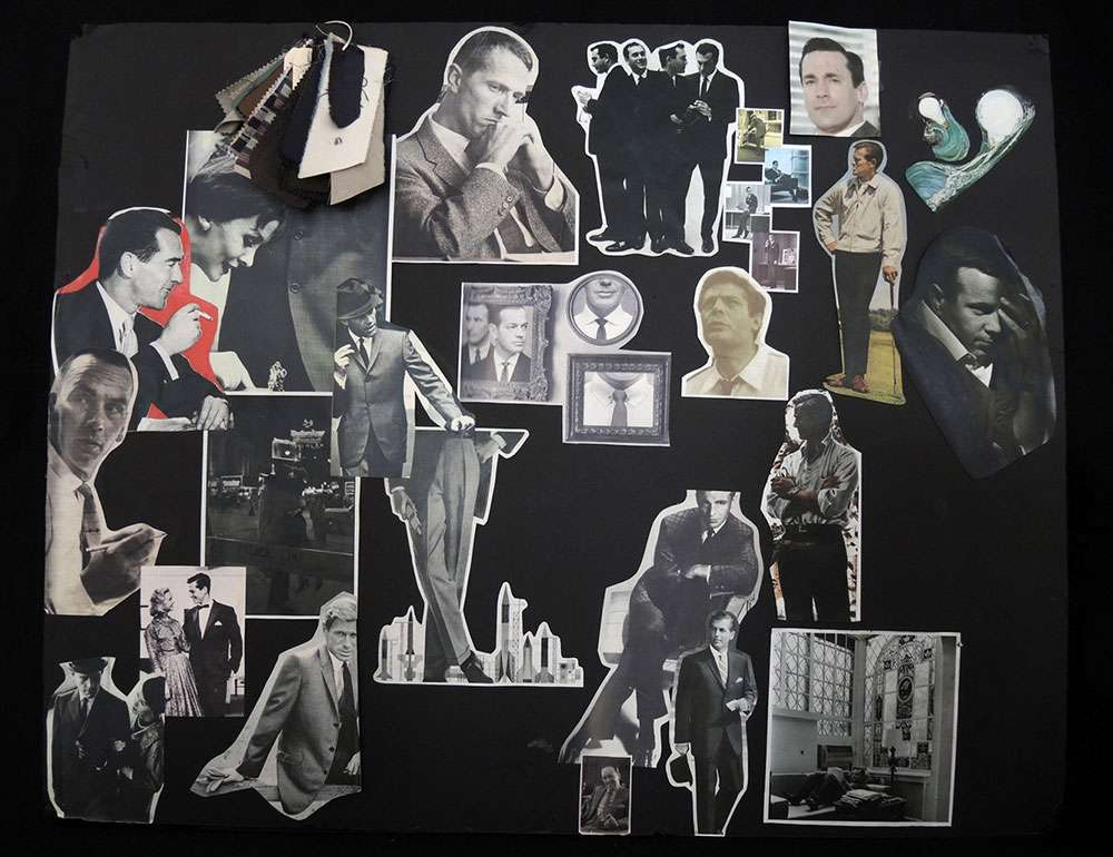 Don Draper Mood Board from Museum of the Moving Image