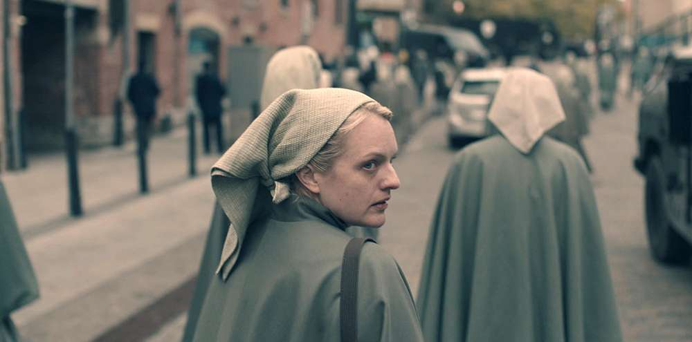 Elisabeth Moss as Offred in The Handmaid's Tale (Photo courtesy of Hulu)