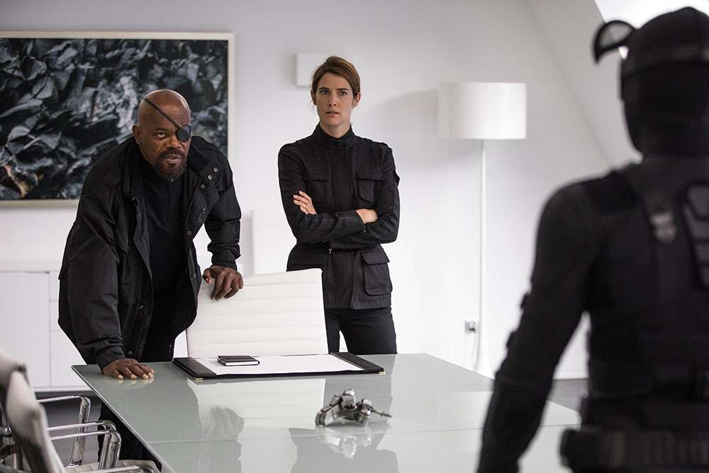 Samuel L. Jackson and Cobie Smulders in 'Spider-Man: Far From Home'