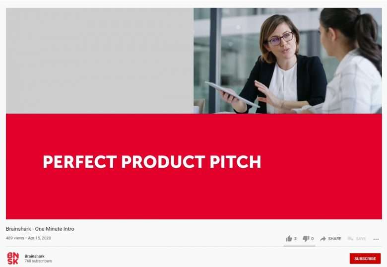 B2B Explainer Videos - Brainshark Example Perfect Product Pitch