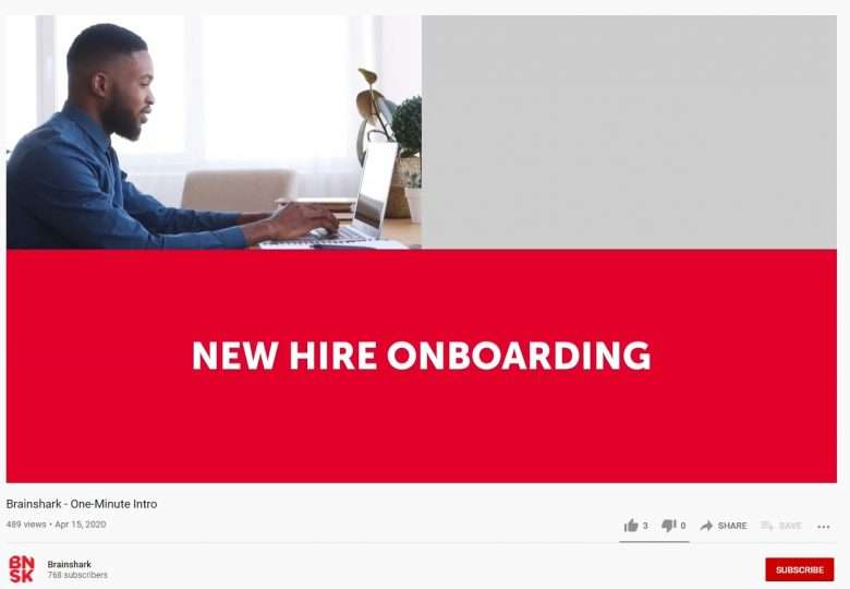B2B Explainer Videos - Brainshark Example New Hire Onboarding