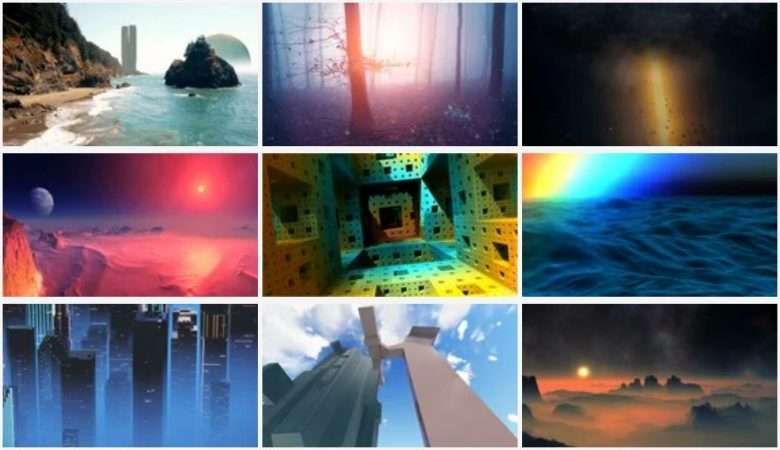 Imaginary Landscapes Stock Footage Collection